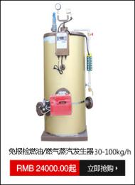 免报检燃油/燃气蒸汽发生器30-100kg/h