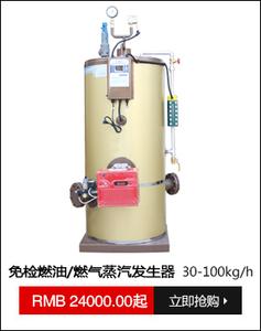免检燃油/燃气蒸汽发生器30-100kg/h